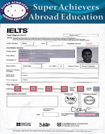 Band IELTS classes Super Achievers Abroad Education